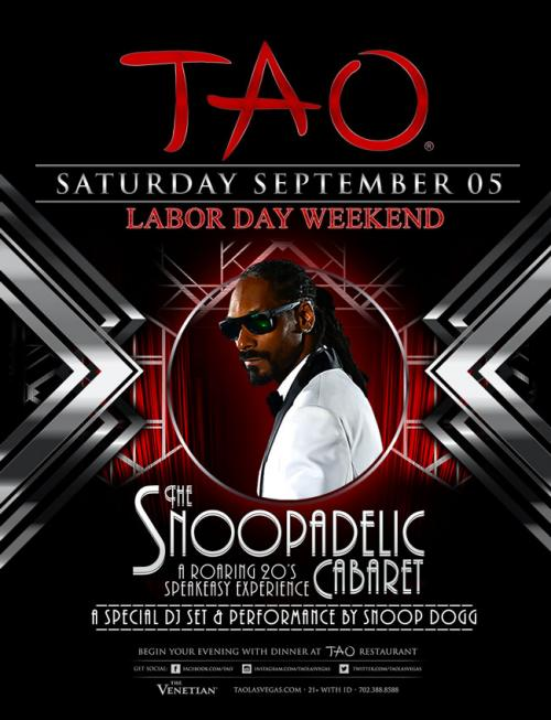 Tao Nightclub Las Vegas, Featuring Snoop Dogg
