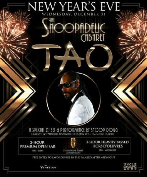 Tao  Nightclub NYE Las Vegas, Featuring Snoop Dogg