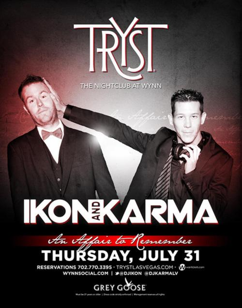 Tryst Nightclub Las Vegas Featuring Ikon and Karma