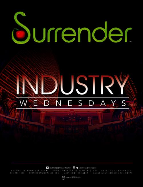 Surrender Nightclub,Las Vegas, Industry Wednesdays