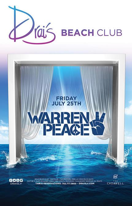 Drais Las Vegas Roof Top Beach Club, Featuring Warren Peace